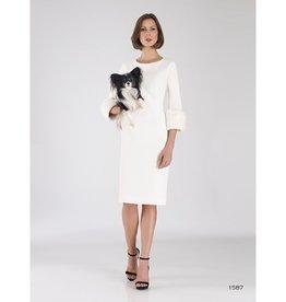 Bigio Bigio Fur Sleeve Dress