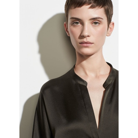 Vince Vince Band Collar Blouse