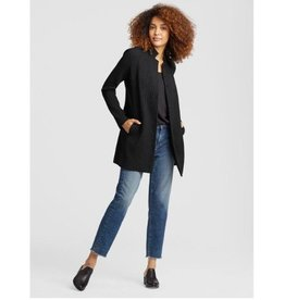 Eileen Fisher Eileen Fisher Cotton Tencel Stretch Collar Long Jacket