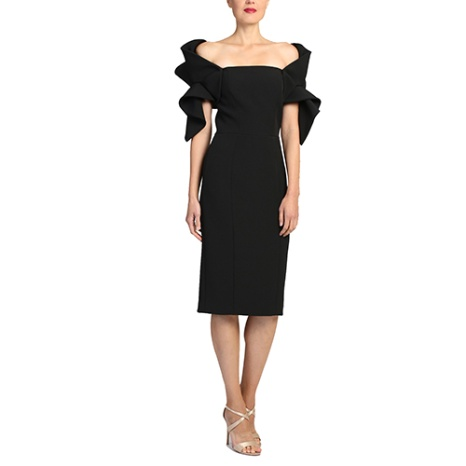 Badgley Mischka Badgley Mischka Origami Sleeve Dress