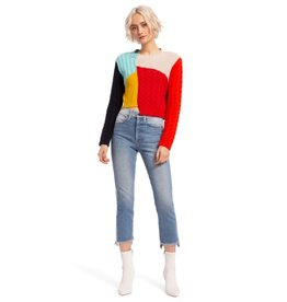 Alice & Olivia Alice & Olivia Lebell Deconstructed Relaxed Pullover