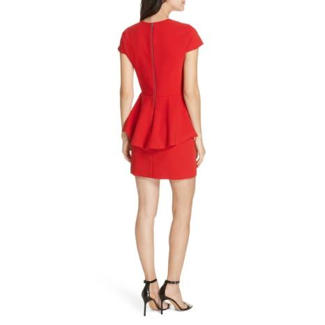 Alice & Olivia Alice & Olivia Ember Peplum Fitted Dress