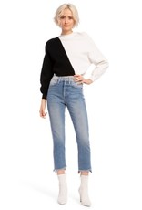 Alice & Olivia Alice & Olivia Elyse Cropped Assymetrical Pullover