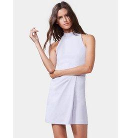 Halston Heritage Halston Sleeveless Mock Neck Drape Front Dress