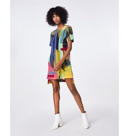 Nicole Miller Nicole Miller Abstract Paint Shirt Dress