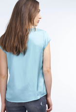 Repeat Cashmere Short Sleeve Silk Blouse