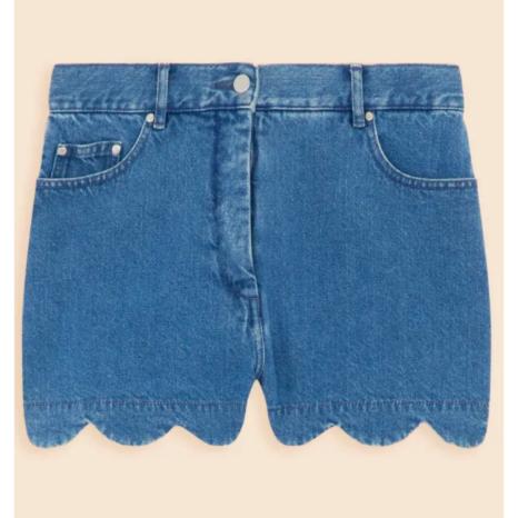 Tara Jarmon Tara Jarmon Shorts With Scalloped Hem