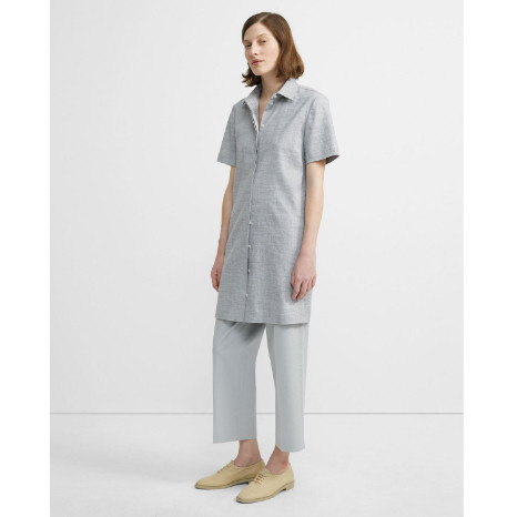 Theory Theory Good Linen Button Down Dress