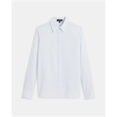Theory Theory Striped Classic Straight Shirt