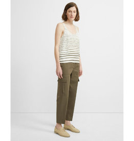 Theory Theory Striped Scoop Tank Top