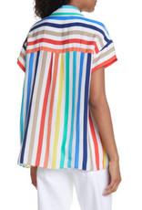 Alice & Olivia Alice & Olivia Ashton Drop Shoulder Shirt