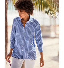Finley Finley Reverse Trapeze Shirt Bold Pin Stripe