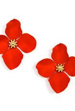 Zenzii Zenzii Large Painted Flower Earring Flame