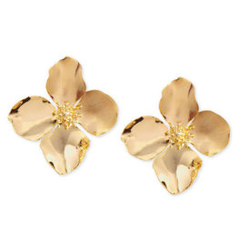 Zenzii Zenzii Oversized Flower Stud Earring Gold