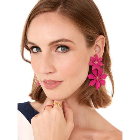Zenzii Zenzii Jasmine Drop Earring Hot Pink