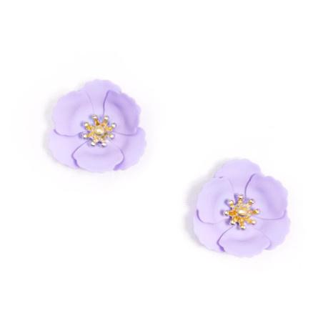 Zenzii Zenzii Poppy Stud Earring Lavender