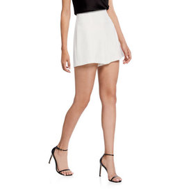 Alice & Olivia Alice & Olivia Galway Clean High-Waist Shorts