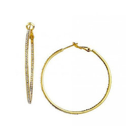 Be- Je Designs Be-Je Designs Pave Small Hoops Gold
