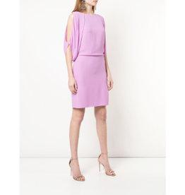 Halston Cape Sleeve Open Back Dress
