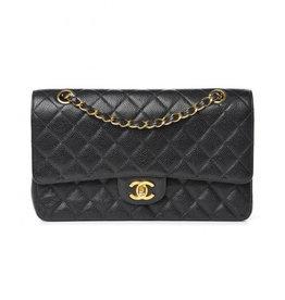 """Chanel Black Lambskin 2.55 10"""""""