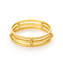 Julie Vos Julie Vos Savannah Bangle Gold Medium
