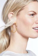 Julie Vos Julie Vos Crescent Hoop Gold Pearl-L