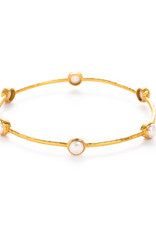 Julie Vos Julie Vos Milano Bangle Gold Pearl Medium