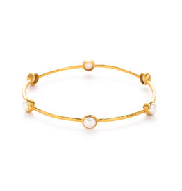 Julie Vos Julie Vos Milano Bangle Gold Pearl- Medium