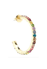 Zenzii Zenzii Colorful Crystals Hoop Earring Multi
