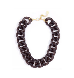 Zenzii Zenzii Lucite Link Collar Necklace Black