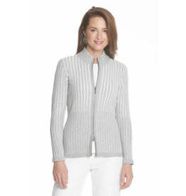 J'Envie J'Envie Textured Zip Cardigan