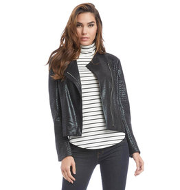 Fifteen Twenty Fifteen Twenty Faux Croco Moto Jacket