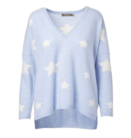 Brodie Cashmere Brodie Cashmere Stars and Back Sweater