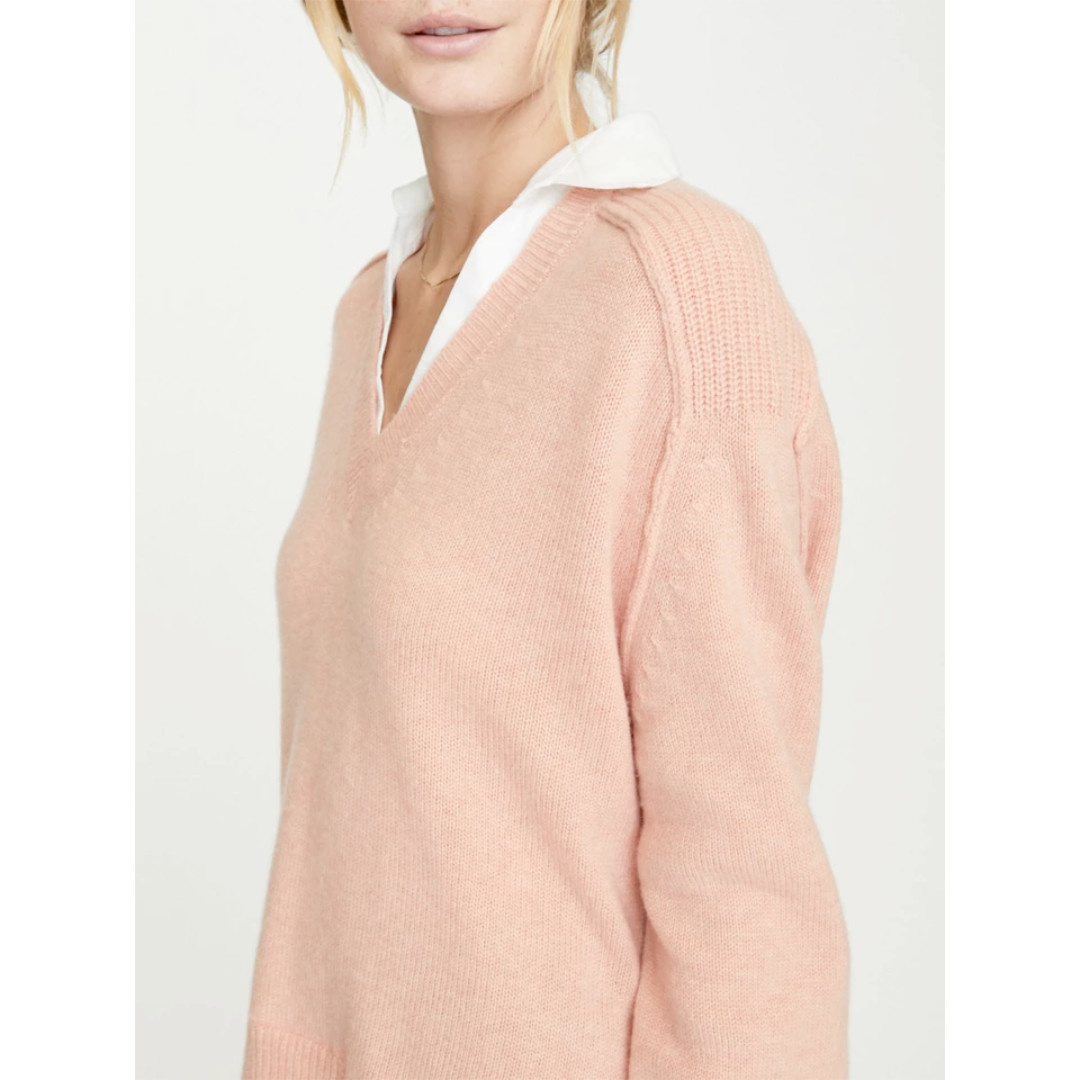 Brochu Walker Brochu Walker V- Neck Layered Pullover