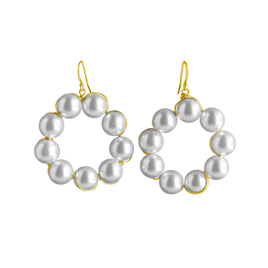 Catherine Page Amy Pearl Hoop Earring