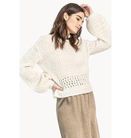 Lilla P Lilla P Cropped Boatneck Sweater