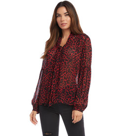 Fifteen Twenty Fifteen Twenty Blouson Sleeve Tie Top