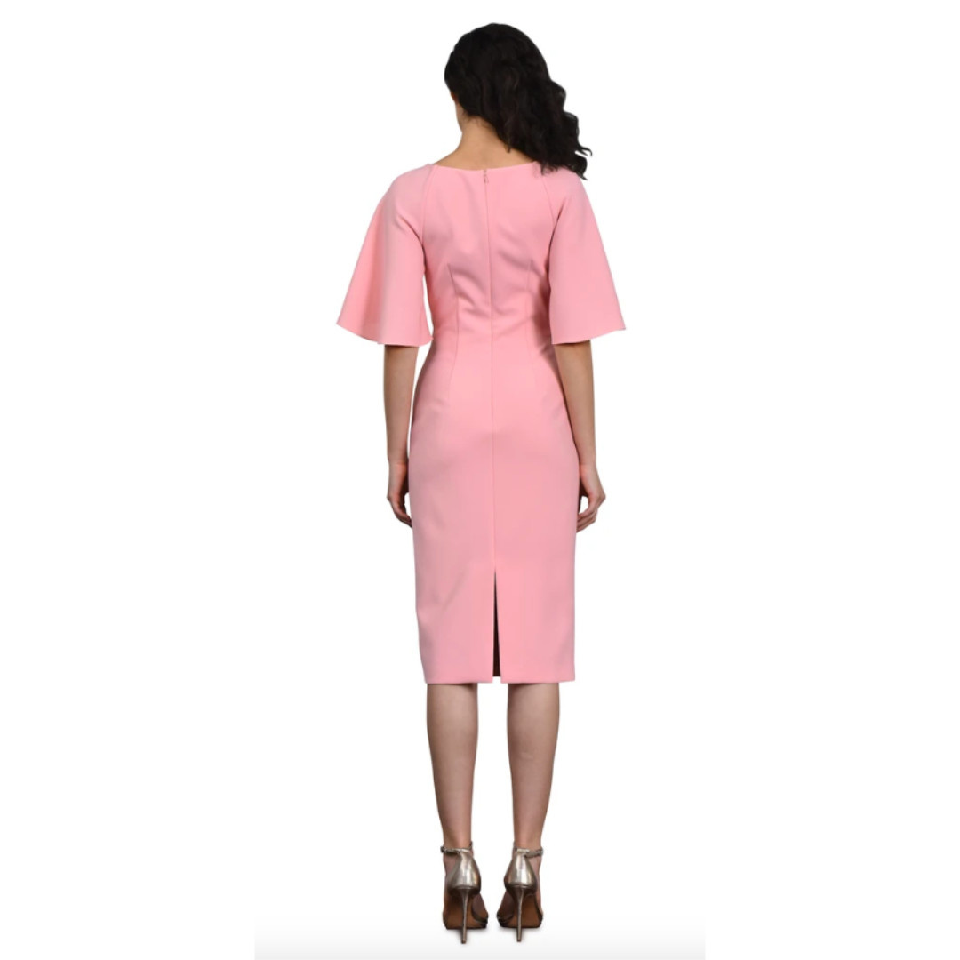 Theia Theia V Neck Cocktail Dress
