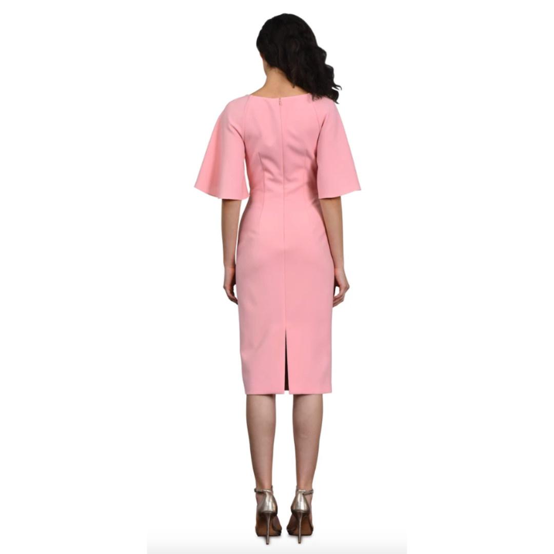 Theia V Neck Cocktail Dress