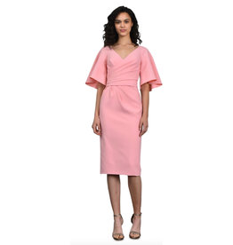 Theia Theia V Neck Cocktail Dress