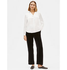 Eileen Fisher Eileen Fisher Hammered Silk V-Neck Shirt