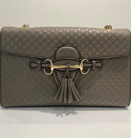Gucci Grey Microguccissima Emily Shoulder Bag