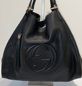 Gucci Black Leather Soho Shoulder