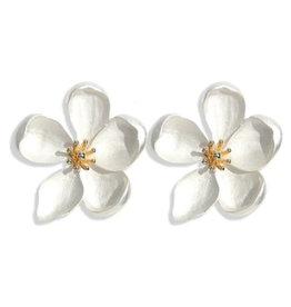 AC Jewelry Petal To The Metal Stud Earrings Silver
