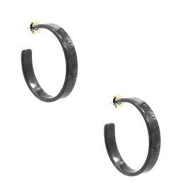 Zenzii Zenzii Classic Acetate Hoop Earring Black