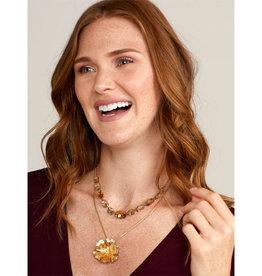 Zenzii Zenzii Flower Power Pendant Necklace Gold