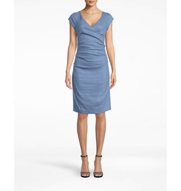 Nicole Miller Nicole Miller Beckett Cap Sleeve Wrap Dress