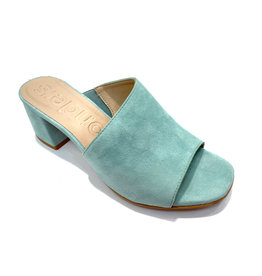 Wonders Wonders Leather Mule W/ Asymmetric Cut