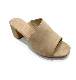Wonders Leather Mule W/ Asymmetric Cut