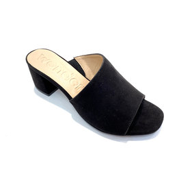 Wonders Leather Mule with Asymmetrical Cut
